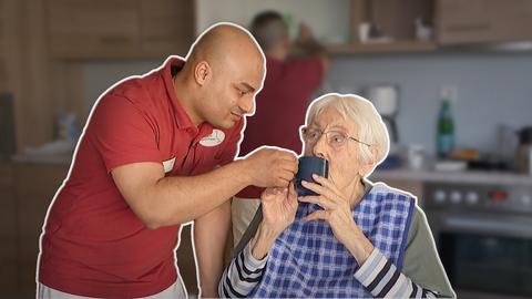 Die Pfleger Altaf und Manzor
