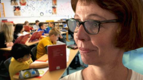 Die hr-Journalistin Petra Boberg wagt den Selbstversuch als Grundschullehrerin