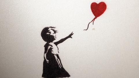 The Art of Banksy - Girl and Balloon 2002