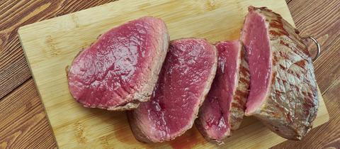 Angeschnittenes Flanken-Steak