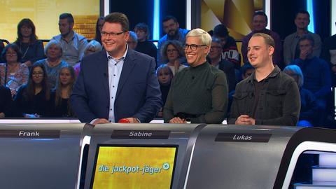 Die Jackpot-Jäger Frank, Sabine und Lukas
