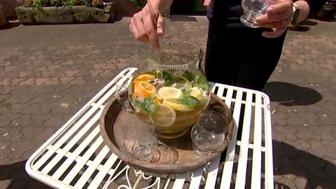 Kräuter-Bowle mit Ginger Ale