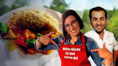 Ali Güngörmüs und Stefanie Pieper treten gegeneinander an. Es gibt Rucola-Parmesan-Taschen.