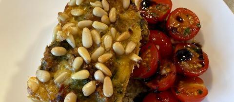 Vorspeise von Michael Huneck: Gemüsemuffin mit Tomatensalat