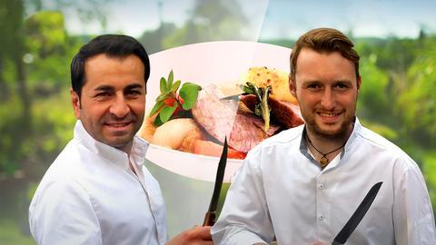 Gourmetkoch Ali Güngörmüs und sein Berufskollege Moritz Zinn.