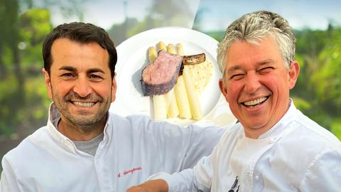 Kalbskarre mit Parmesanspargel und Sauce Choron von Ali Güngörmüs
