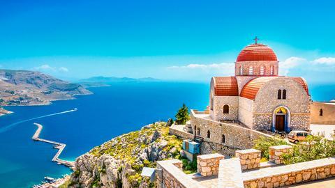 Eien Stadt auf Korfu