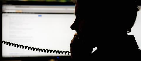 Betrug Telefon Büro Sujet
