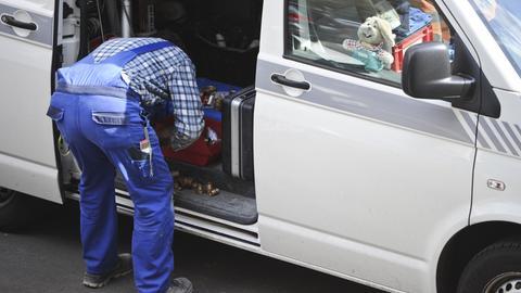 Handwerker Lieferwagen