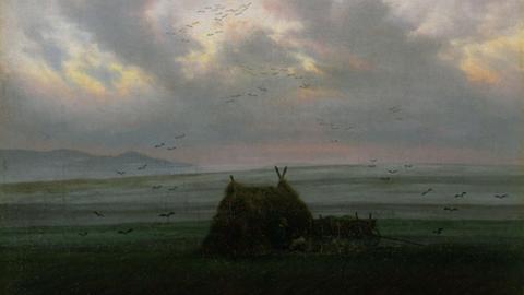 """Das Gemälde """"Nebelschwaden"""" von Caspar David Friedrich."""