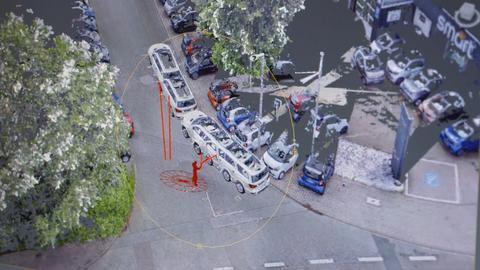 3D-Darstellung der Polizei - Software.