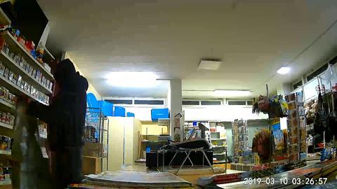 Einbrecher im Kiosk