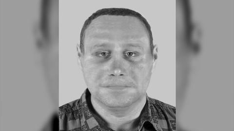 Fahndungsfoto des Verdächtigen, der in Frankfurt Schwanheim eine Joggerin angefallen hat.
