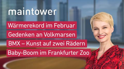 """Die Themen bei """"maintower"""" am 24. Februar"""