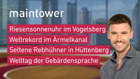 "Die Themen bei ""maintower"" am 23. September"