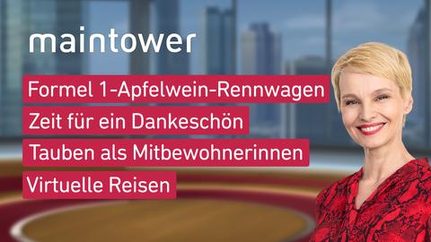 """Die Themen bei """"maintower"""" am 24. März."""