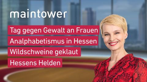 """Die Themen bei """"maintower"""" am 25. November."""