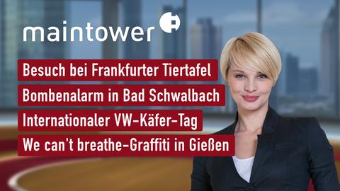 Heutige Themen sind u.a.: Besuch bei Frankfurter Tiertafel, Bombenalarm in Bad Schwalbach, Internationaler VW-Käfer-Tag, We can't breathe-Graffiti in Gießen