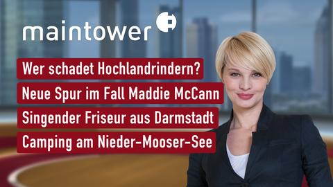 Themen sind u.a.: Wer schadet Hochlandrindern?, Borkenkäferplage in Nordhessen, Singender Friseur aus Darmstadt, Camping am Nieder-Mooser-See.