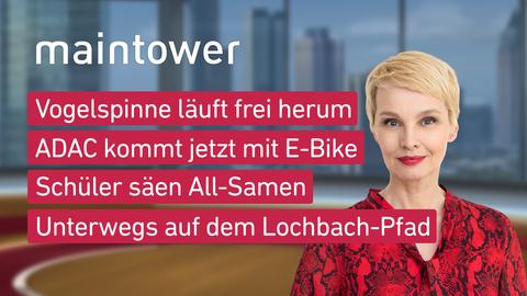 Themen sind u.a.: Vogelspinne läuft frei herum, ADAC kommt jetzt mit E-Bike, Schüler säen All-Samen, Unterwegs auf dem Lochbach-Pfad