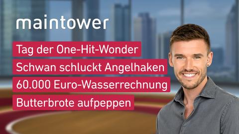 Themen sind u.a.: Tag der One-Hit-Wonder, Schwan schluckt Angelhaken, 60.000 Euro-Wasserrechnung, Butterbrote aufpeppen.