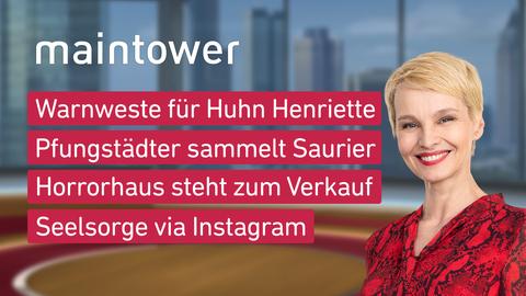 Themen sind u.a.: Warnweste für Huhn Henriette, Pfungstädter sammelt Saurier, Horrorhaus steht zum Verkauf, Seelsorge via Instagram.