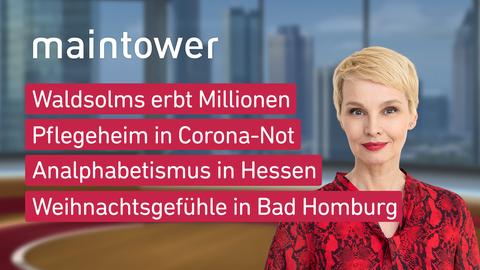 Themen sind u.a.: Waldsolms erbt Millionen, Pflegeheim in Corona-Not, Analphabetismus in Hessen, Weihnachtsgefühle in Bad Homburg.