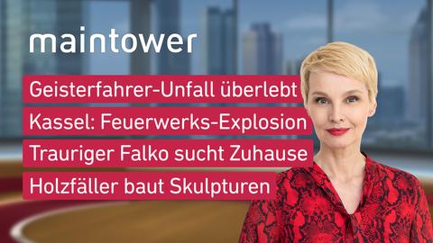 Themen sind u.a.: Geisterfahrer-Unfall überlebt, Kassel: Feuerwerks-Explosion, Trauriger Falko sucht Zuhause, Holzfäller baut Skulpturen.