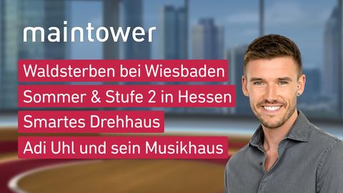 Themen sind u.a.: Waldsterben bei Wiesbaden, Sommer & Stufe 2 in Hessen, Smartes Drehhaus, Adi Uhl und sein Musikhaus.