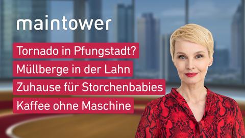 Themen sind u.a.: Tornado in Pfungstadt?, Müllberge in der Lahn, Zuhause für Storchenbabies, Kaffee ohne Maschine.