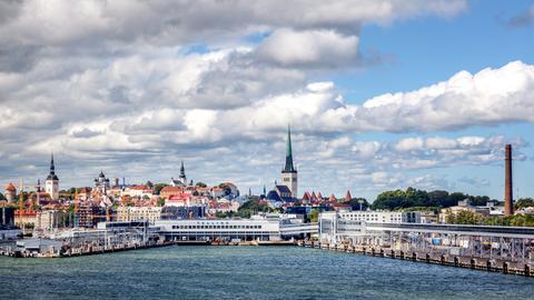 Blick auf Tallinn.