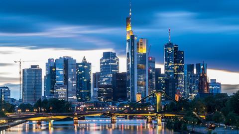 Skyline in Frankfurt