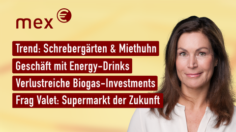 Themen sind u.a.: Trend: Schrebergärten & Miethuhn, Geschäft mit Energy-Drinks, Verlustreiche Biogas-Investments, Frag Valet: Supermarkt der Zukunft.