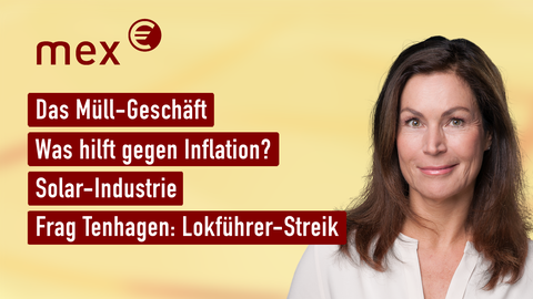 Die Moderatorin Claudia Schick sowie die Themen: Müll-Geschäft, Preissteigerung, Starkregen, Schleuderpreise