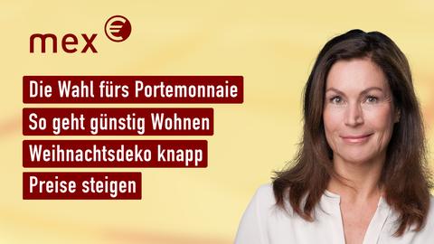 Themen sind u.a.: Die Wahl fürs Portemonnaie, So geht günstig Wohnen, Weihnachtsdeko knapp, Preise steigen.