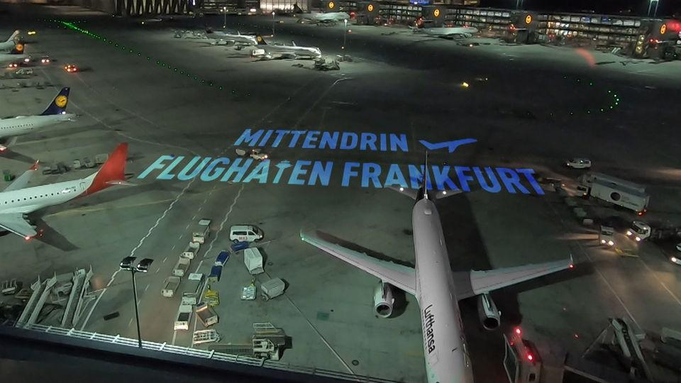 Der Runway am Flughafen Frankfurt