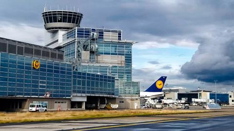 Auf dem Frankfurter Flughafen.