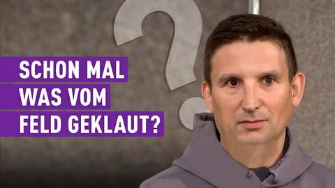 strassen stars-Teilnehmer mit Schriftzug: Schon mal was vom Feld geklaut?
