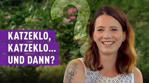 strassenstars-Kandidatin mit Text: Katzenklo, Katzenklo... und dann?
