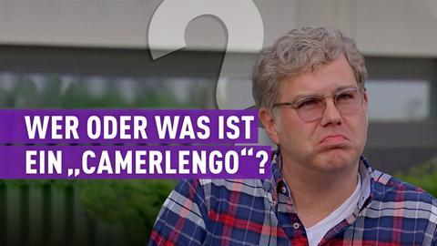 """strassen star-Kandidat mit Schriftzug: """"Wer oder was ist ein """"Camerlengo""""?"""