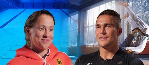 Schwimmerin Sarah Köhler (Bruchköbel) und den Judoka Alexander Wieczerzak (Frankfurt)
