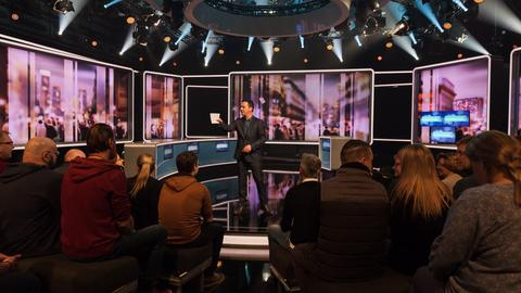 Zuschauer im strassen stars-Studio