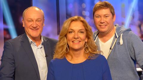 Das Rateteam (v.li.): Bettina Tietjen, Sascha Korf, Bodo Bach