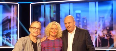Das Rateteam (v.li.): Henni Nachtsheim, Susanne Fröhlich und Jörg Thadeusz