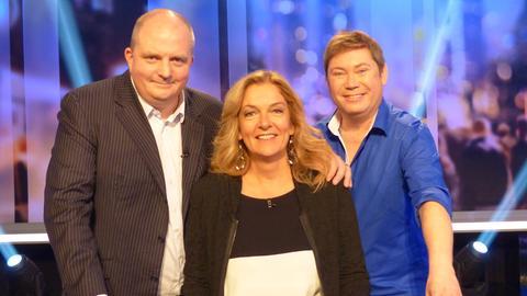 Das Rateteam (v.li.): Jörg Thadeusz, Bettina Tietjen, Sascha Korf