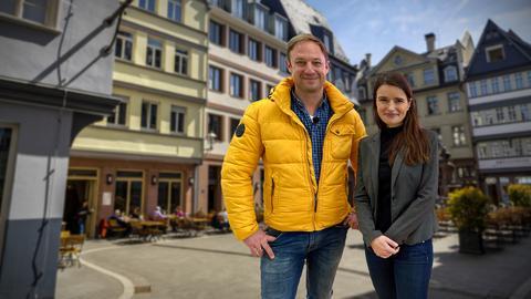 Tobi Kämmerer in der Frankfurter Altstadt
