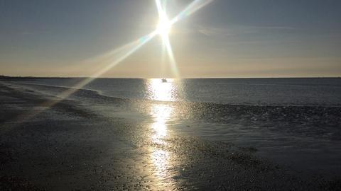 Blick auf das Wattenmeer auf Baltrum
