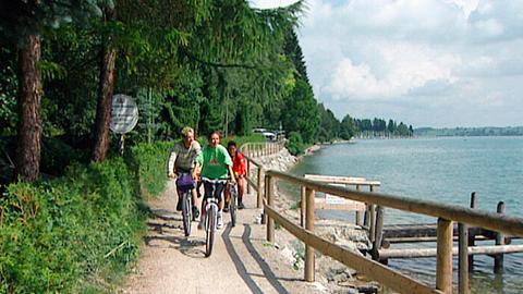 Radweg am Forggensee.