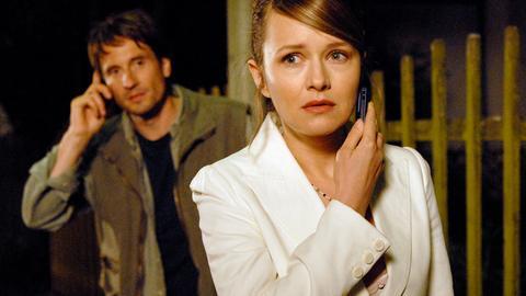 Der liebevolle Papa Max (Oliver Mommsen) holt mit den zwei Jungs Karrieremama Eva (Stefanie Stappenbeck) im Büro ab.