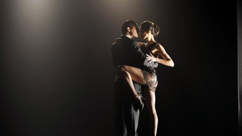 Gabriela Malerba mit ihrem Tanzpartner.